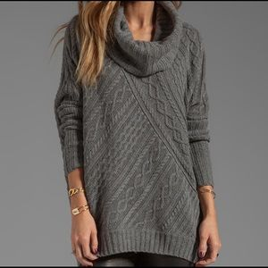 MaxAzria Cabled Tunic Sweater